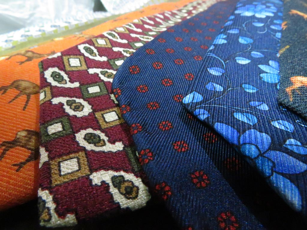 Neck ties Vintage collection in Louis Boyer Faglin's office