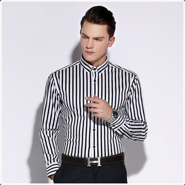 5 trends for men in 2018 louis faglin for Mens red and white striped dress shirt